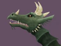 Medieval Dragon Head