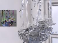 Crystal Boat Shatter | Voronoi Breakdown