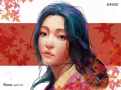 Draw a girl 02 sai girl draw