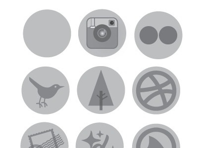 more icons icons buttons badges social instagram flickr twitter forrst dribbble mail designmoo grooveshark