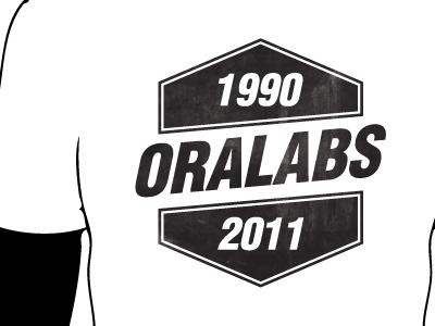 OraLabs company t-shirt t-shirt picnic 2011 badge shape black