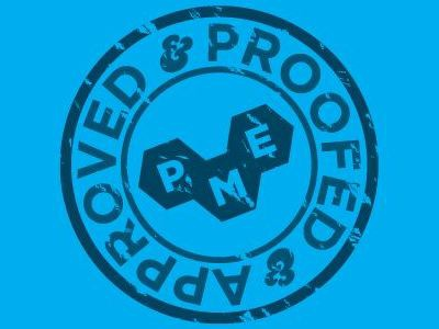 PROOFED & APPROVED stamp opacity mask ampersand icon logo