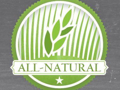 All Natural badge grass wheat texture star