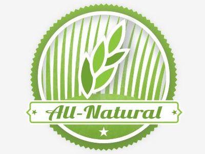 All Natural revision natural grass badge wheat texture