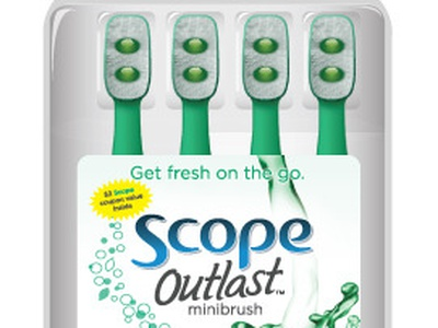 SCOPE Outlast minibrush  pg scope toothbrush product