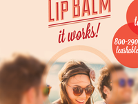 Try Lip Balm blur photo focus circles typography orange summer