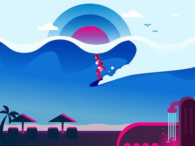Surfing waves,sun , swell ocean,sea,surf,surfing,