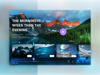 Video - Sharing Interface Design blue dark ui dark theme web page website nature dribble app ux main design landing page youtube design ui clean