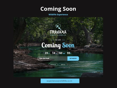 Oopss! We are Coming Soon - Coming Soon Page dark mode ui design ui  ux app travel notify dribble landing page construction art wildlife template page coming soon building