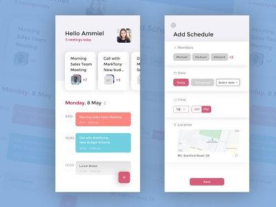 dribbble meeting schedule UI calendar ui schedule app meeting app education dribbble vector flat minimal illustration icon ux ui app design