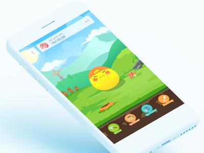 Game interface - Golden Bean