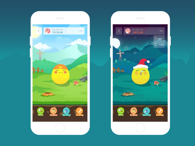 Game interface - Golden Bean 插图 设计 ux ui