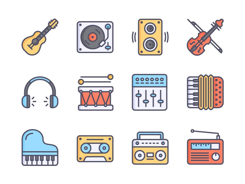 Music Icons Color icon free