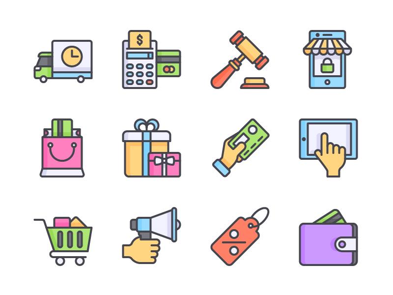 Ecommerce Icon Set icon free