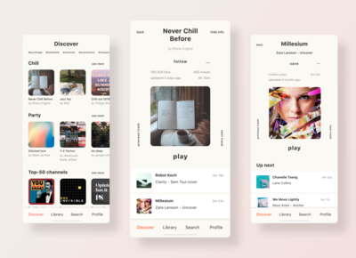 Discover Playlists | Music App Redesign