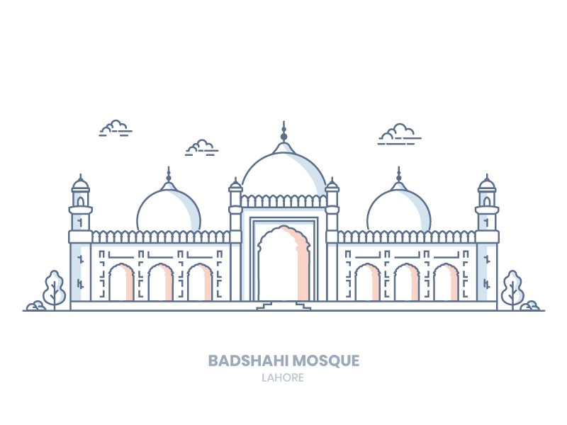 Mosque Drawing Art