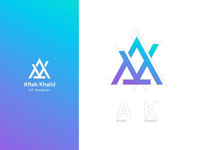 Logo Type   Aftab Khalid logotype logo icon type logo