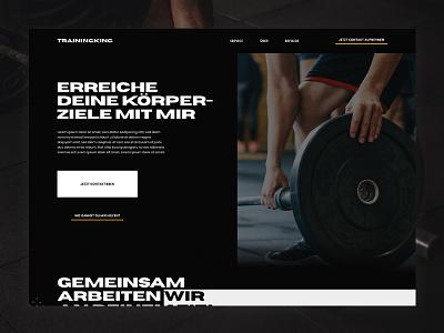 Personal Trainer Website website trainer personal uidesign webdesign ui design ui