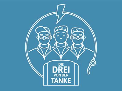 Die Drei von der Tanke line design logo