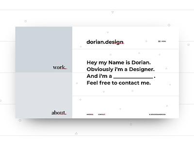 Design for dorian.design web design minimal design