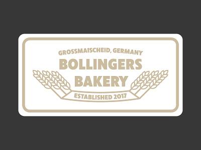 Bollingers Bakery | Logo badge minimal design label logo
