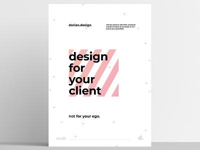 dorian.design - Poster no.01 print poster typography minimal design