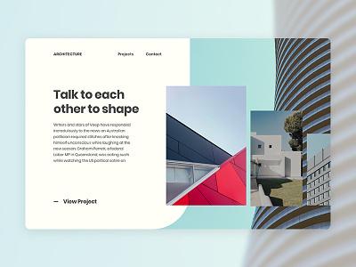 Architecture Website Concept sans serif simple clean website architecture minimal design