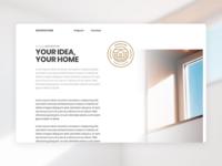 Architecture Website Concept Content Page