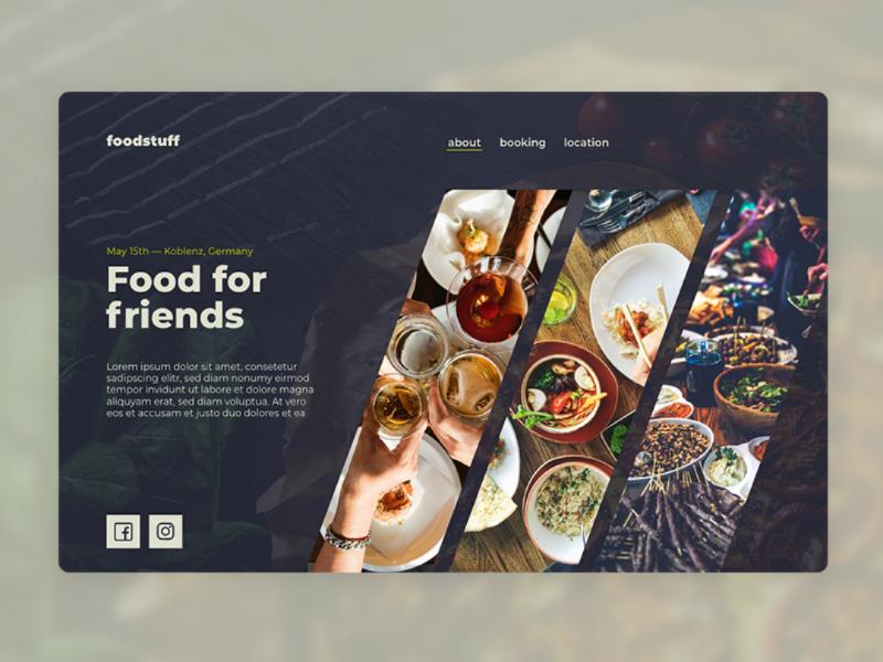 Cooking Event Website Concept ux ui landingpage sans serif design website food food website