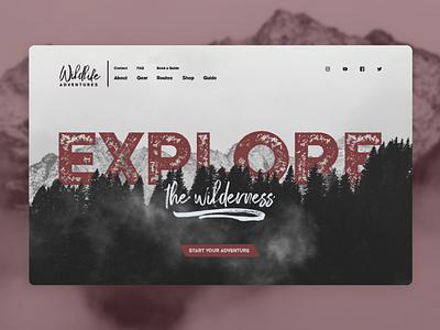 Adventure Website Concept ux ui logo branding typography wild design website explore adventure
