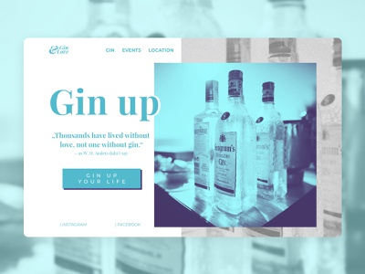 Gin&Love Website Concept serif typography ux ui simple clean website minimal design