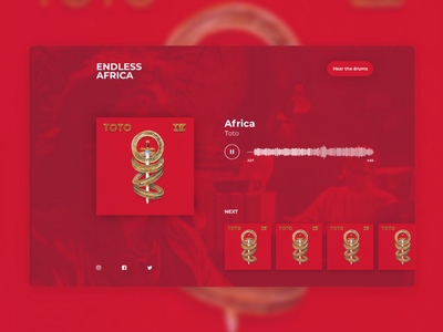 Toto Africa Website Concept clean sans serif minimal ui ux design website