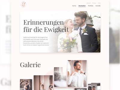 Photography Website serif gradient clean website design photograph photograhy wedding