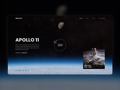 Apollo 11 Website Concept apollo moon space ux ui design webdesign
