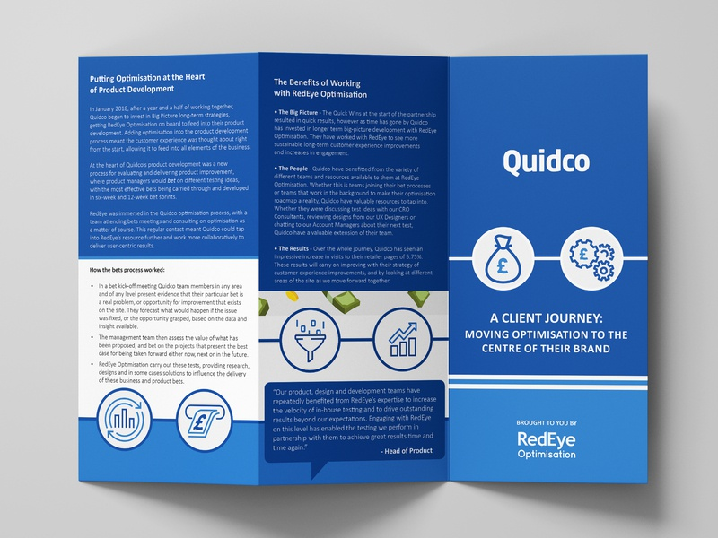 Quidco Client Story TriFolds trifold design trifold mockup trifold dl flyer booklet booklet design graphic design branding design minimal clean typography lettering logo marketing marketing collateral marketing campaign cover booklets artwork