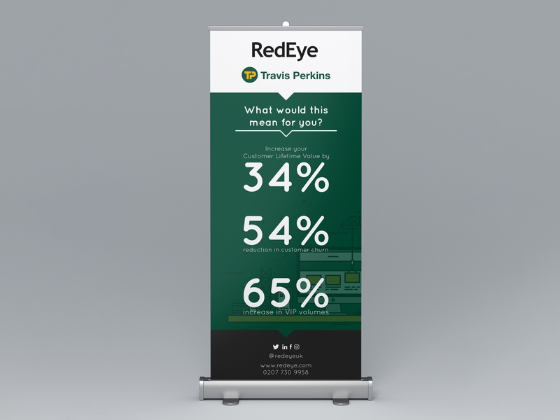 RedEye Event Roll-up booklets cover marketing campaign marketing collateral marketing packaging badge logo lettering typography clean black and white minimal design branding graphic design booklet design booklet rollup banner rollup
