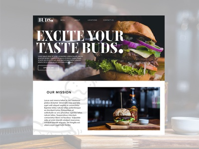 Buds Burgers landing page