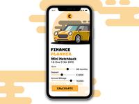 Car Finance App Mockup