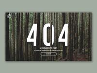 404 Page Mockup