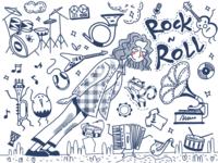 doodle music rocknroll