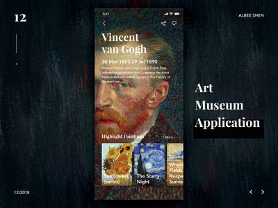 Van Gogh museum application parallax parallax scrolling applicaiton like scroll ui ae ux process animation van gogh museum