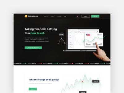 Creative landing page / Trading company