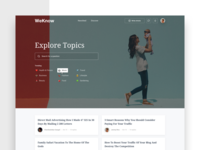 Landing page design concept | Young moms forum