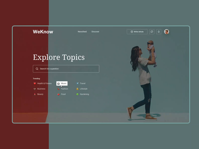 Landing page concept | Young moms forum