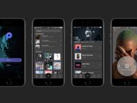 Mobile Music Player Mockup