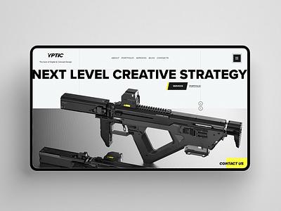 YPTIC branding adobe 3d 2d creative agency creative vaporwave videogame film vector art concept art weapon neon minimal digital design webdesign design web ux website