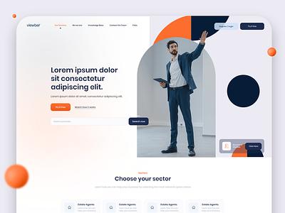 Saas gradient corporate door 3d shapes estate agent colourful saas design minimal digital design branding webdesign web design ux ui website saas app software saas