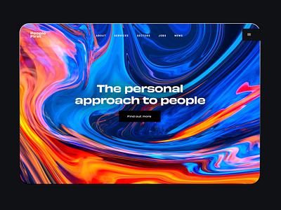 Recruitment Agency saas corporate black recruitment agency animation liquid colourful colorful colors colours branding landing page minimal digital design webdesign web design ux ui website