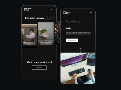 Mobile Version saas app dark app mobile responsive news blog timeline black dark minimal pantone webdesign web design ux ui landing page website digital design
