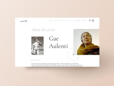 Gae Aulenti - Artist Page
